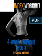 Venus Index Workout Cycle 3