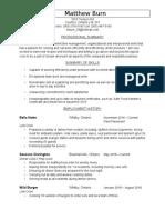 matthew burn resume