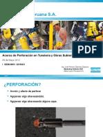 Aceros de Perforacion en Tuneleria y Obras Subterraneas Senamin Qosqo