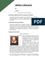 Análisis Literario de Romeo y Julieta