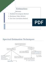 Spectrum Estimation Traditional Methods