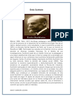 BIOGRAFIA Émile Durkheim
