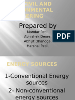 Energy Sources by Mandar