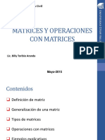 MATRICES Y OPERACIONES
