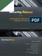Security Alliance | Complete Security Solutions | Corporate Brochure Presentation