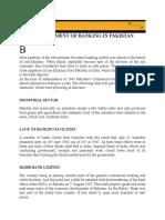 Development of Banking in Pakistan