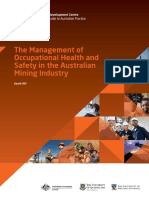 Management of Occupational Safety in the Austalian Mining Industry