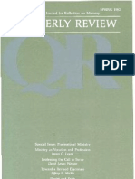 Spring 1982 Quarterly Review - Theological Resources for Ministry