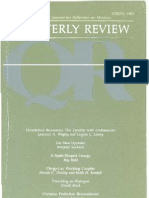Spring 1983 Quarterly Review - Theological Resources for Ministry
