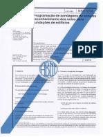 NBR 8036 - Programação de Sondagens