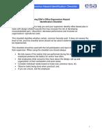 Office Ergonomics Hazard Checklist