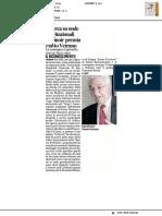 Urbinoir premia Flavio Vetrano - Il Corriere Adriatico del 25 novembre 2016