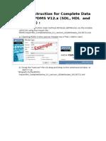 WorkingInstruction Complete Data-Import PDMS V12x 20130724