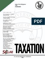 UP Bar Reviewer 2013 Taxation
