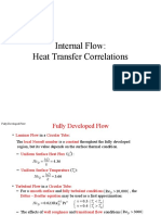 Internal Flow- Heat Transfer Corelations