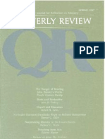 Spring 1987 Quarterly Review - Theological Resources for Ministry