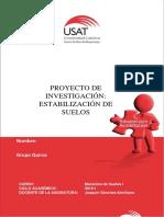 Estabilización de Suelos - Trabajo de Investigación