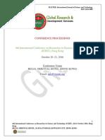 GRDS International ICRST Proceedings,October 2016,Hongkong