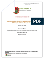 GRDS International HUSOC Proceedings ,October 2016,Hongkong