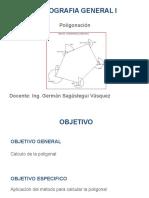 POLIGONACION CALCULO DE UNA POLIGONAL