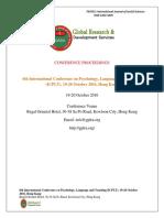 GRDS International ICPLT PRoceedings,October 2016,Hongkong