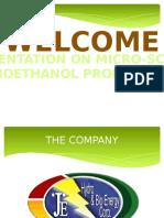 JE Hydro Bioethanol Business Presentation
