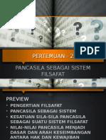 4. Pancasila Sebagai Sistem Filsafat