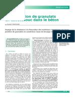 Incorporation de Granulats en Caoutchouc Dans Le Béton