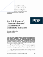 But Is It Rigorous? Trustworthiness and Authenticity in Naturalistic Evaluation