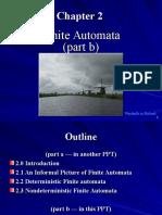 Chapter 2 (Part b) Finite Automata