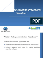 JER Salary Administration Procedures