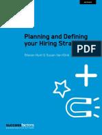 Planning Defining Hiring Strategy