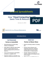 Beyond Spreadsheets - Moving HR to the Cloud - HR Com Jan 11 2012 FINAL V2-CKJL