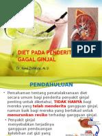 Diet Pada Penderita Gagal Ginjal