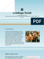 Lembaga Sosial