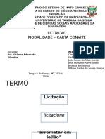 Licitação - Carta Convite
