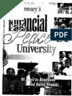 Dave Ramsey Financial Peace University Workbook