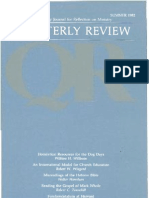 Summer 1982 Quarterly Review - Theological Resources for Ministry