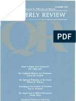 Summer 1983 Quarterly Review - Theological Resources for Ministry