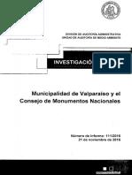 Contraloría informe investigación Valparaíso