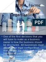 Chapter 4 Forms of Business Organization