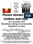 Donation Request Flyer