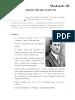 Teoría Sociocultura Del Lev Vigotsky