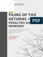TAXATION - Filing of Returns + Tax Penalties and Remedies