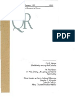 Summer 1992 Quarterly Review - Theological Resources for Ministry