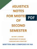 Corrected Linguistics Notes