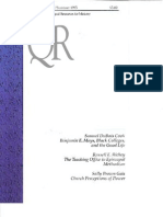 Summer 1995 Quarterly Review - Theological Resources for Ministry