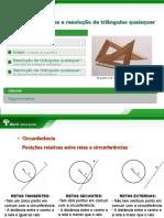 Abril -Matemática - Circunferências Áreas e Resolução de Triângulos Quaisquer - 1ª Série - 2010