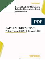 Laporan Keuangan Akhir Tahun BEM FEB UI 2015