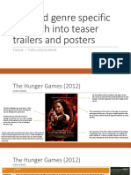 detailed genre specific research into teaser trailers and